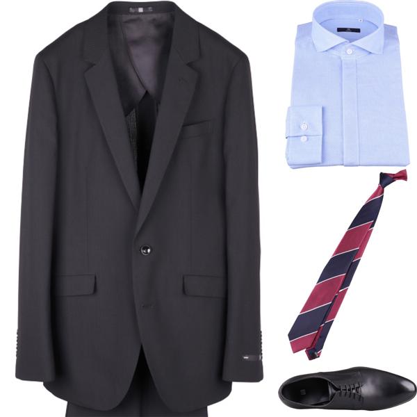 ストライプネクタイの着こなしコーディネート例