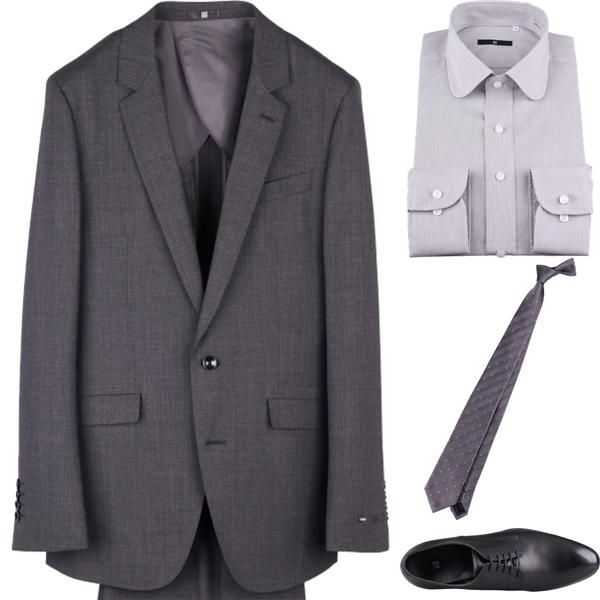 ドットネクタイの着こなしコーディネート例