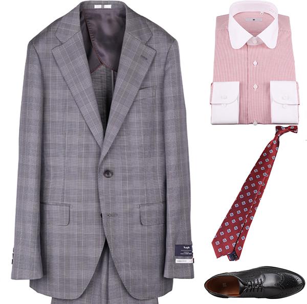 小紋ネクタイの着こなしコーディネート例