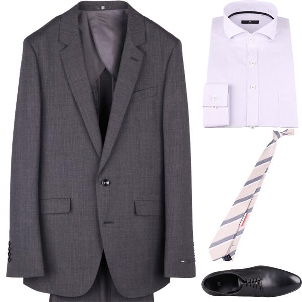 成人式ネクタイ着こなしコーディネート例