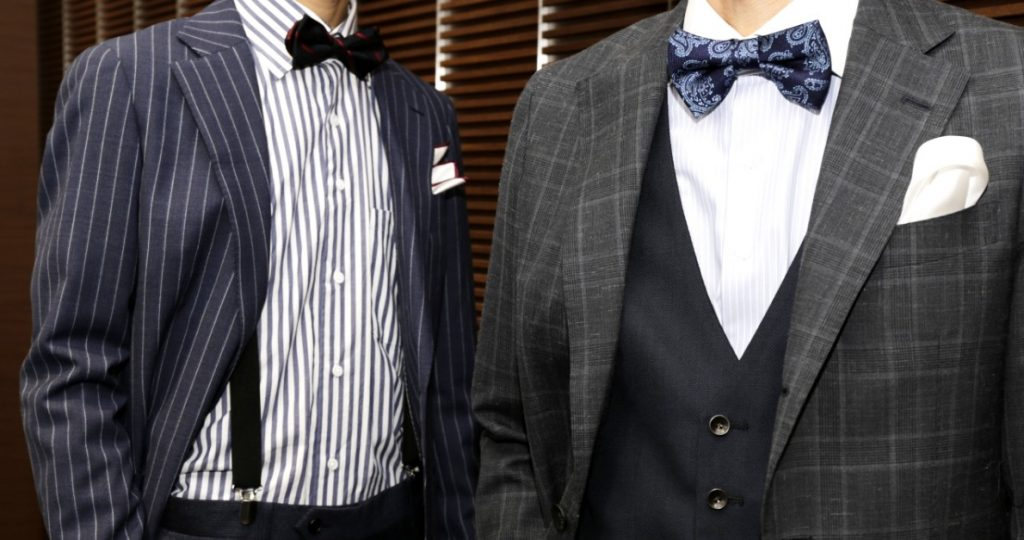結婚式柄物スーツ