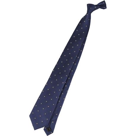 neckti:ドット・水玉のネクタイ。シャツにコーディネートしやすい。ビジネスマンの定番。フォーマルな印象で、ジャケットやシャツとコーディネートがおすすめ。ドットが大きい柄は奇抜なので避ける