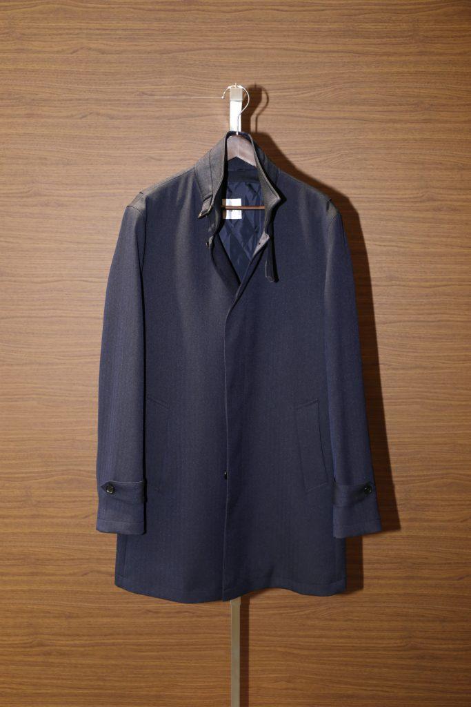 スタンドカラーコート黒