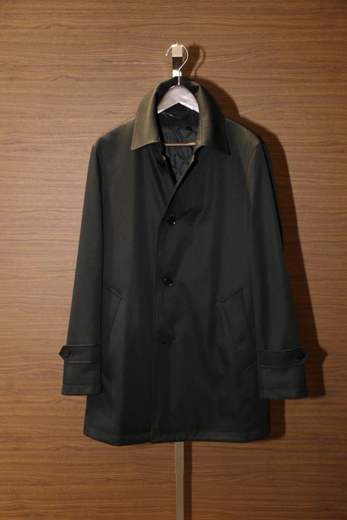 ステンカラーコート黒