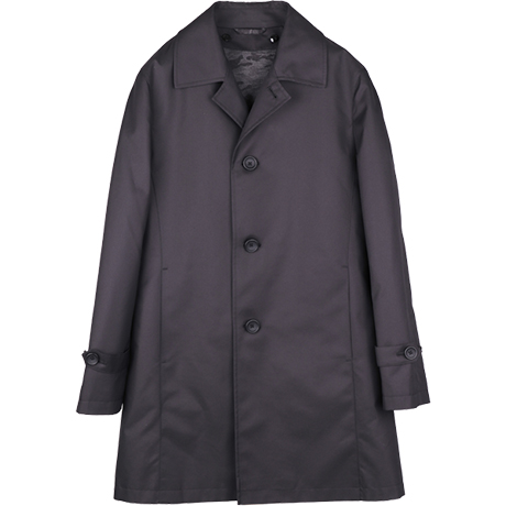 黒ステンカラーコート