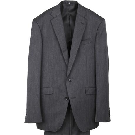 チャコールグレー無地のスーツ