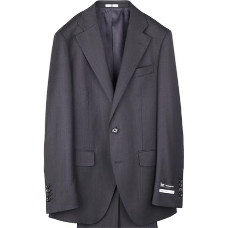 チャコールグレーソリッドスーツ