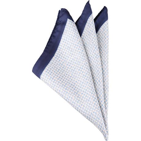 白×ネイビーポケットチーフ