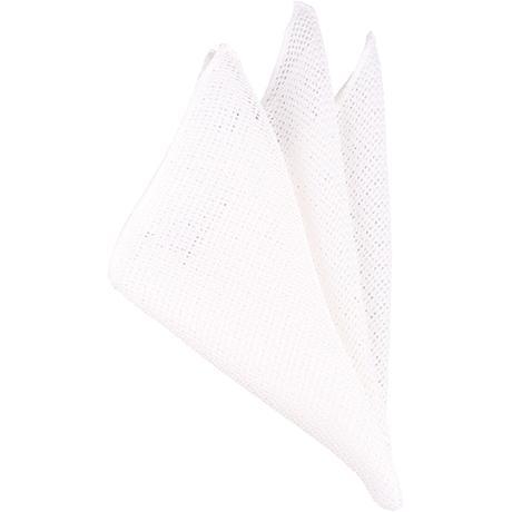白メッシュポケットチーフ