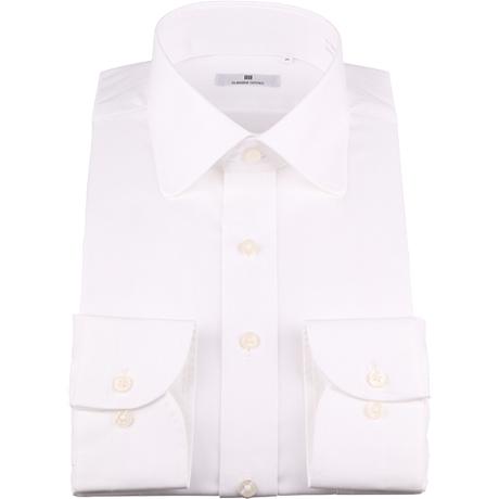 白ラウンドカラーシャツ