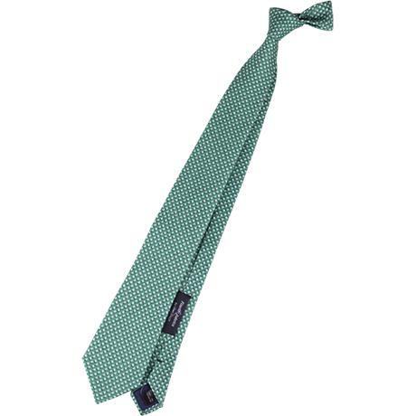 グリーン小紋ネクタイ