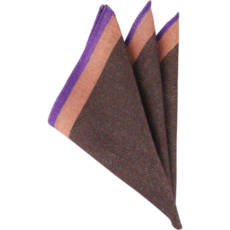 ブラウンウールポケットチーフ