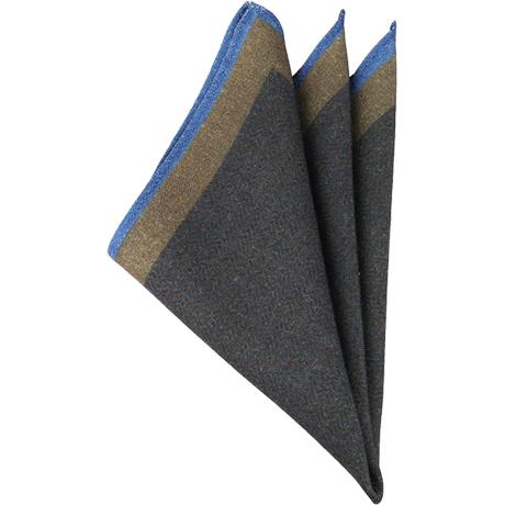グリーンウールポケットチーフ