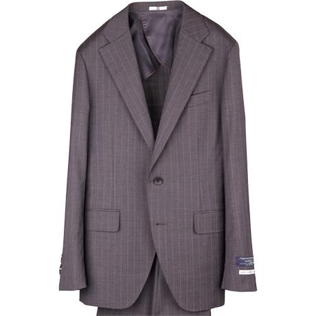 ブラウンストライプスーツ