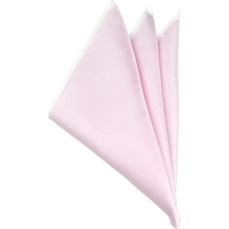 ピンクソリッドポケットチーフ