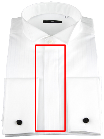 白ドビーウイングカラーシャツ