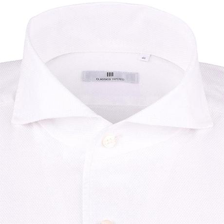 からみ織 白シャツ