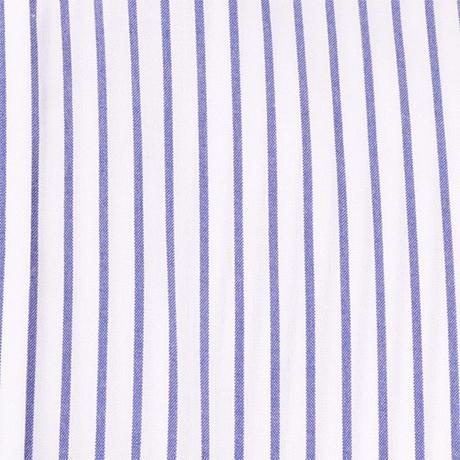 白にブルーのストライプシャツ