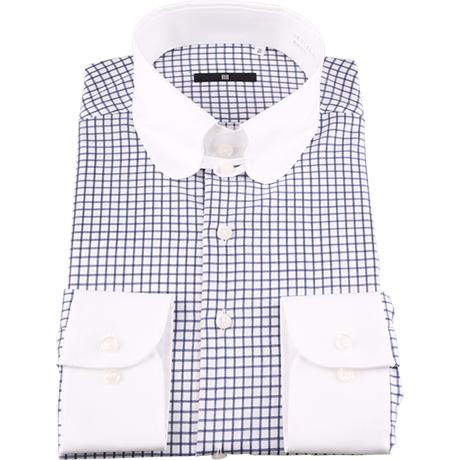 クレリックチェックタブカラーシャツ