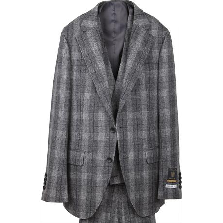 グレーチェックスリーピーススーツ