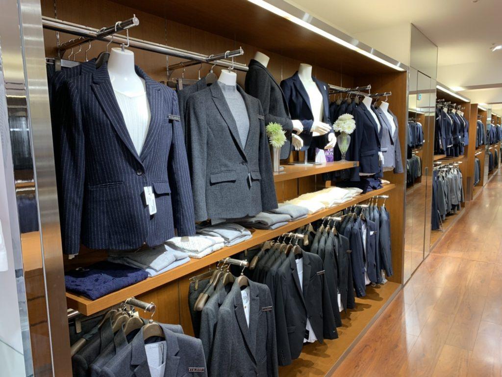 スーツセレクト新宿西、スーツコーナー