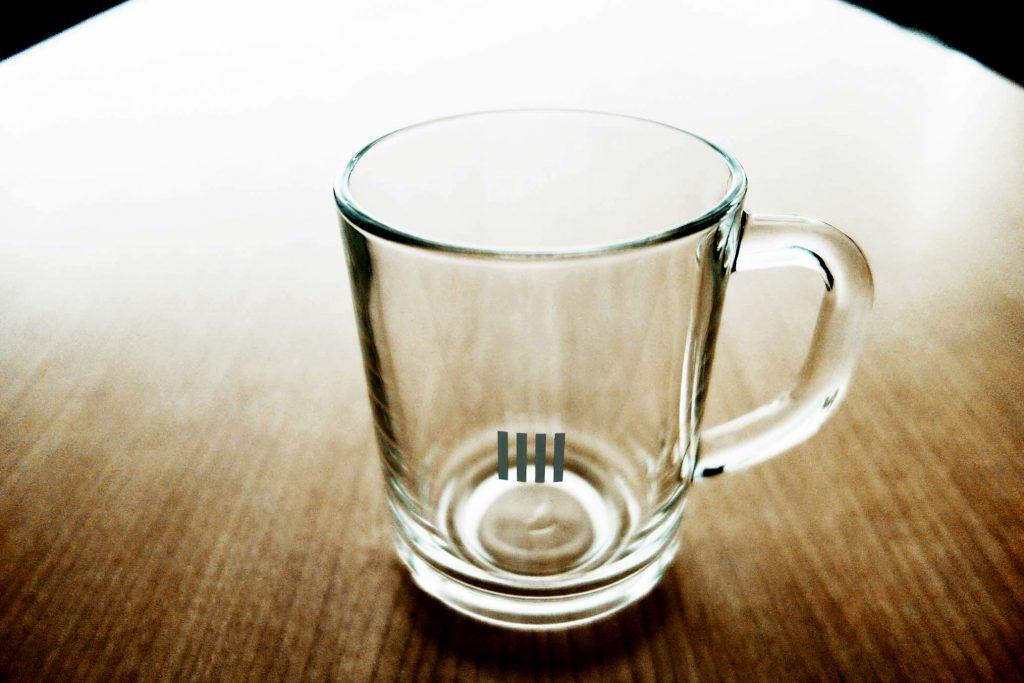 オリジナルマグカップ透明