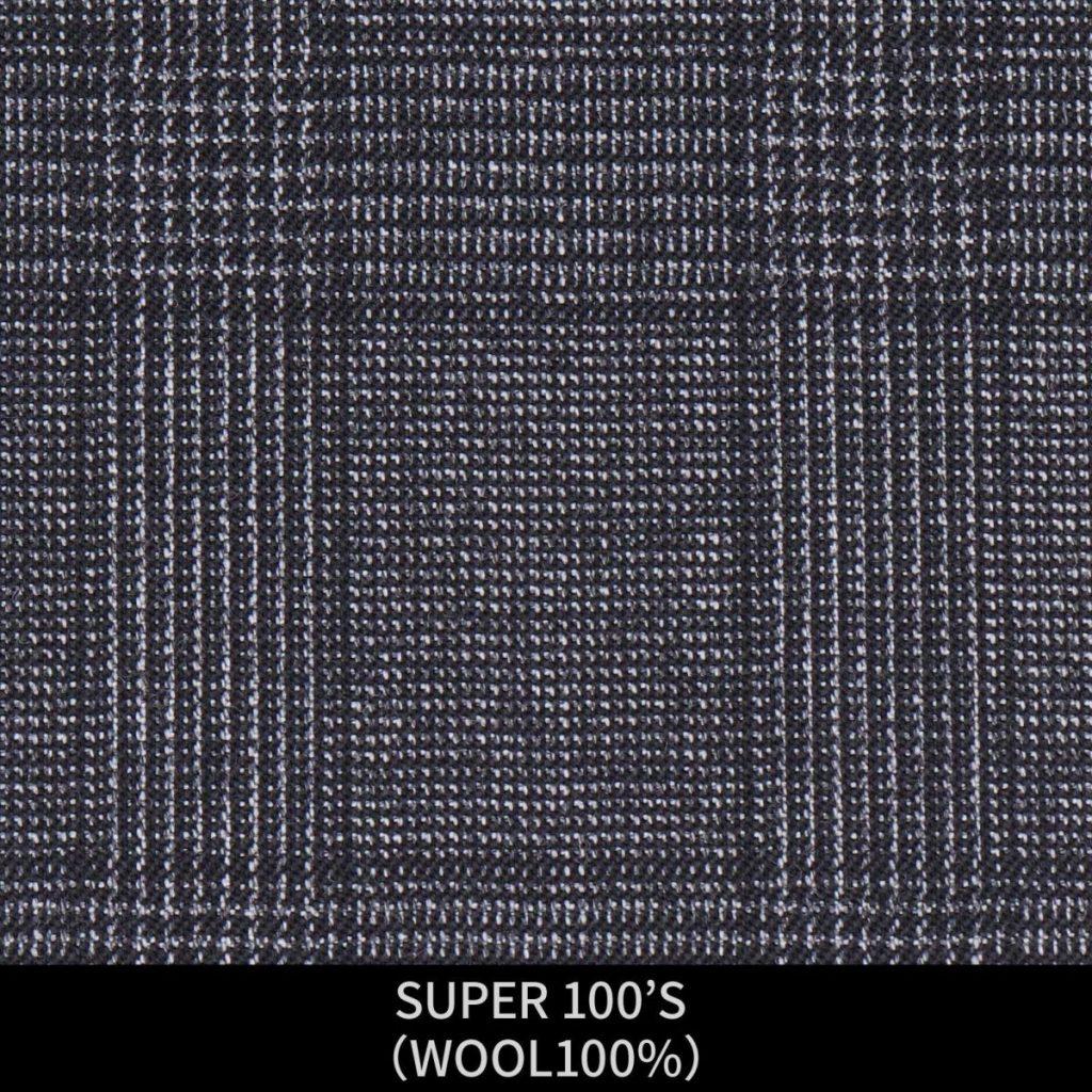 【MEN'S】【パターンオーダー】【KSW】スーツ/グレー×チェック/SUPER 100'S (WOOL100%) 商品番号 KSW-086495 ¥ 48,000 +税