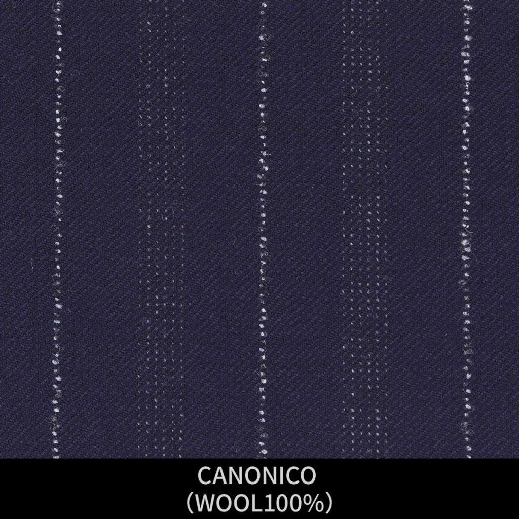 【MEN'S】【パターンオーダー】【KSW】スーツ/ブラック&ホワイト×ストライプ/CANONICO (WOOL100%) 商品番号 KSW-086615 ¥ 58,000 +税